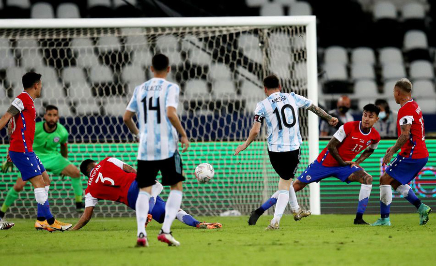 Copa America: Messi free kick not enough as Argentina held to draw by Chile