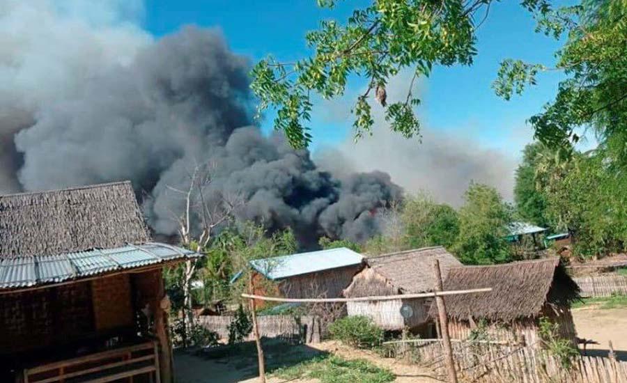 Myanmar village burned after fighting, residents blame security forces