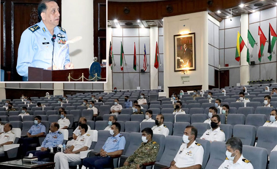 Air chief lauds PN's valuable services to safeguard maritime frontiers of country