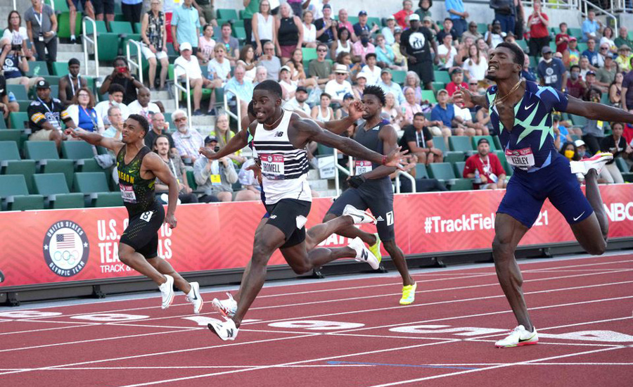 Bromell clinches men's 100m, Felix punches ticket to fifth Olympics