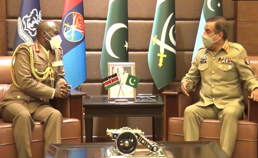 Kenyan chief of defence forces visits Pakistan, calls on CJCSC General Nadeem Raza