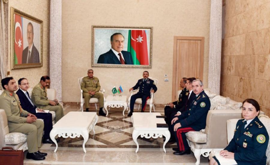 COAS Qamar Bajwa, Azerbaijan military leaders discuss security cooperation
