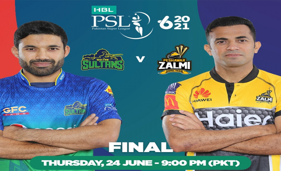Multan Sultans and Peshawar Zalmi to battle for PSL 6 glory today