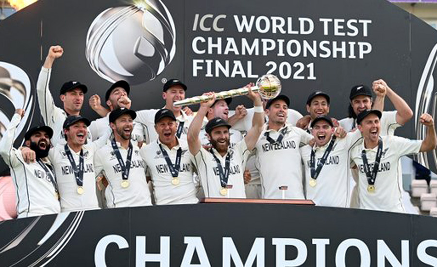 New Zealand shed bridesmaid's tag with World Test Championship title
